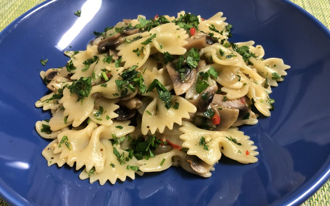 Mushroom and Chillies Pasta